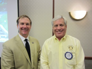 Brian Parkhurst with President Jerry Kroll